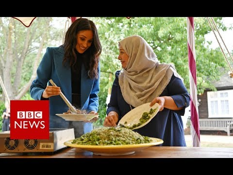Meghan Markle praises women at Grenfell cookbook launch - BBC News