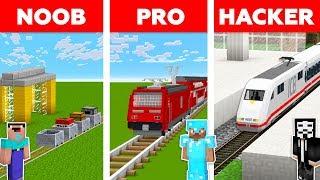 Minecraft NOOB vs PRO vs HACKER :TRAIN STATION CHALLENGE in minecraft / Animation