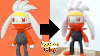 Raboot  - (Pokémon) - Pokémon Sword & Shield Clay Art: Raboot!! Fire type Pokémon