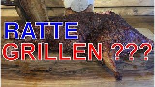 Nutria Biber Ratte vom Smoker     Klaus grillt