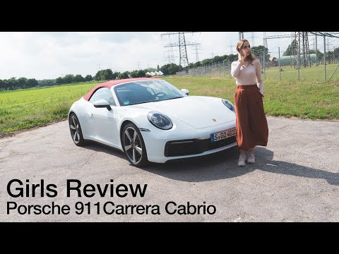 Larissa fährt das Porsche 911 Carrera Cabrio (992) / Girls Review [4K] - Autophorie