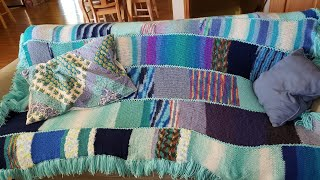 How to knit a blanket on the addi