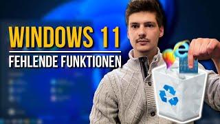Windows 11: Entfernte und vergessene Funktionen