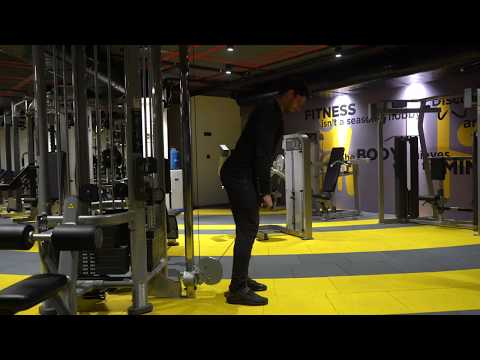 Soft knee cable deadlifts