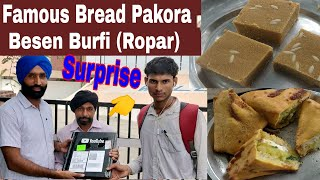 have one surprise | famous bread pakora & besan Burfi  my city ropar #jaanmahal