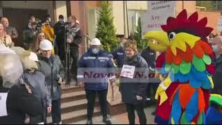 В Николаеве под апелляционным судом митингуют работники НГЗ и «экоактивисты»