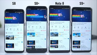 Battery Test: Samsung S9 Plus vs S8 Plus vs S8 vs Note8
