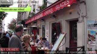 preview picture of video 'Video Tour of a 1-Bedroom Furnished Apartment in Montmartre, Paris'