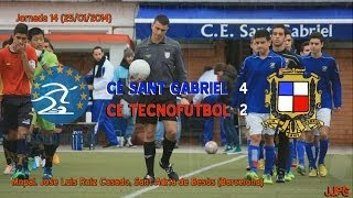 preview picture of video '2013-14 Cadete Preferente - J14 - CE Sant Gabriel - CE Tecnofutbol 4-2'