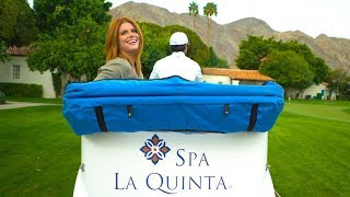 The Chill Chaser relaxes at Spa La Quinta