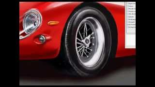 Ferrari 250 GTO Car Draw Speed painting  by  Salvatore Asero GRAFTECH