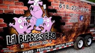 Lil Buddies BBQ Mobile Food Trailer Wrap