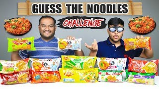 GUESS THE NOODLES EATING CHALLENGE | Noodles Eating Competition | Food Challenge