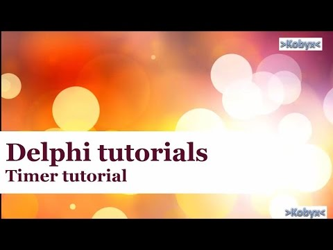 Timer – Delphi Tutorial