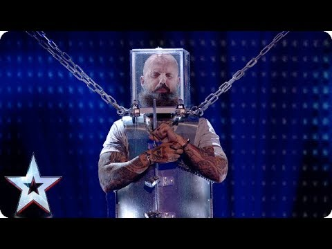 Will he ESCAPE? Matt Johnson takes on LIFE-THREATENING act! | Semi-Finals | BGT 2018 (видео)