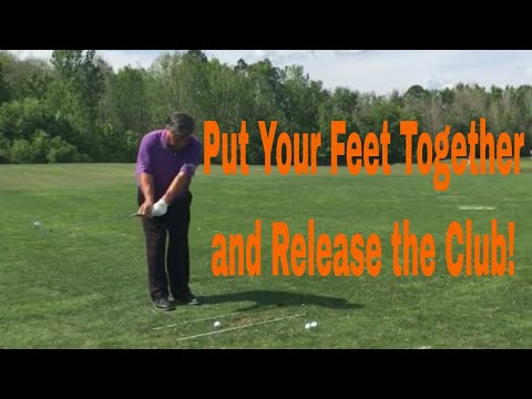 "Release Your Golf Club with the ""Feet Together"" Drill"