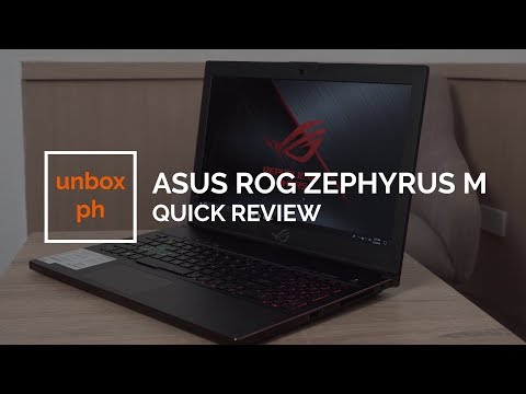 Asus ROG Zephyrus M (GM501GS) Quick Review
