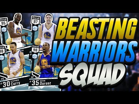 NBA 2K17 MYTEAM ALL TIME GOLDEN STATE WARRIORS GAMEPLAY! ULTIMATE LIMITLESS RANGE CREW!