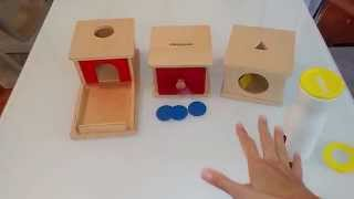 Infant Montessori Activities: Object Permanence/Fine Motor