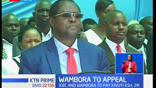 Embu governor Martin Wambora to appeal court ruling