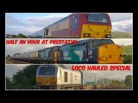30 minutes and 3 loco hauled workings pass Prestatyn 15th Ju…