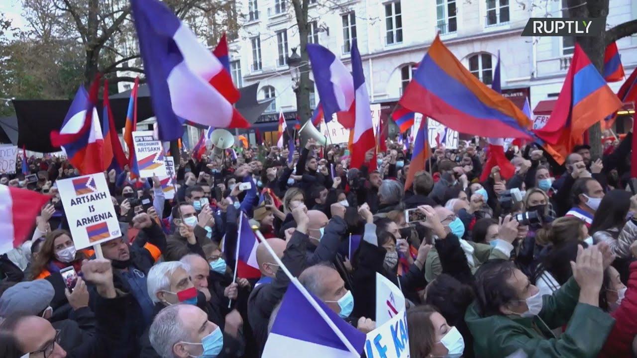 Γαλλία: Συγκέντρωη υπέρ της Αρμενίας στο Παρίσι εν μέσω της σύγκρουσης στο Ναγκόρνο-Καραμπάχ