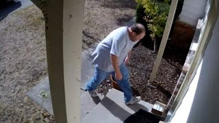 Homeowner Gets Revenge on Man Trying to Steal Package from Porch
