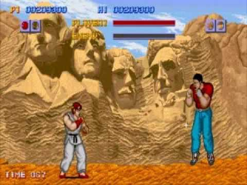 Gameplay completo do Street Fighter 1