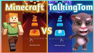 Tiles Hop – Minecraft Theme Song (Trap Remix) VS Talking Tom Song Tik Tok   V Gamer