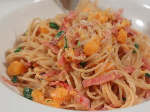 Ham & Butternut Squash Spaghetti Recipe – Easy Winter Pasta