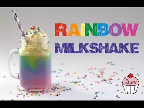 Video RAINBOW Milkshake Recipe | Unicorn Week @ My Cupcake Addiction