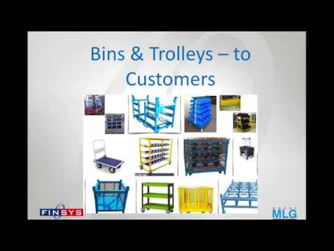 Bins Trolleys Accounting in Finsys ERP Software Manual