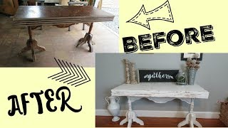 DIY Entry Table   How I Redo Furniture!!