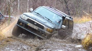 ➤ Toyota 4Runner & Mitsubishi Pajero Sport in MUD [Off-Road 4x4].