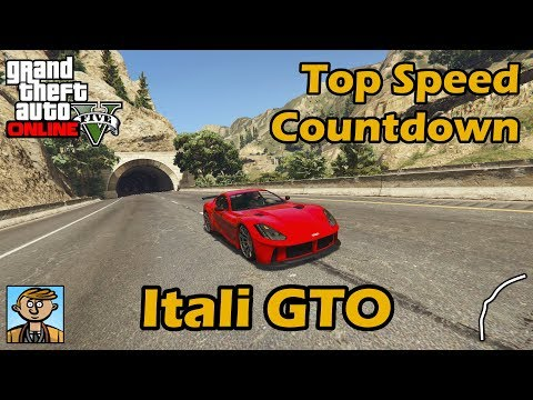 Fastest Sports Cars (Itali GTO) - GTA 5 Best Fully Upgraded Cars Top Speed Countdown