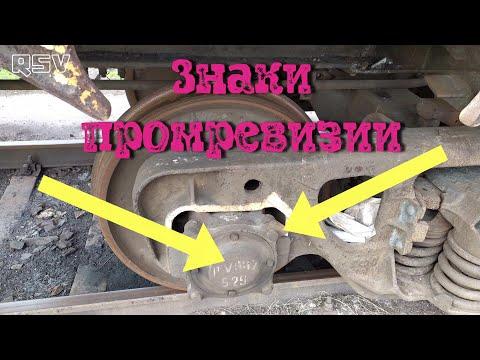 Знаки промежуточной ревизии колёсной пары.Текущий ремонт колёсной пары. Вагонник. Железная дорога.