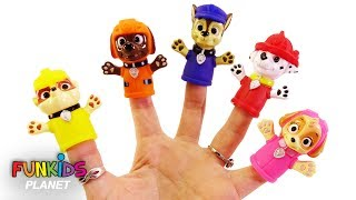 Learning Colors Videos for Kids: Paw Patrol Family Finger Song with Paw Patrol Finger Puppets
