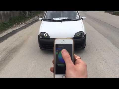 Controller wi-fi Angel eyes RGB con Iphone su fiat seicento