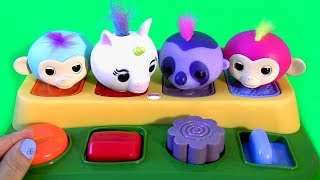 Fingerlings Pop Up Surprise Toys Unicorn Learn Colors Learn Numbers