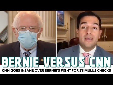CNN Goes Insane Over Bernie's Fight For Stimulus Checks