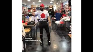 Danrue Dancing at City Gear to Chris Brown Song