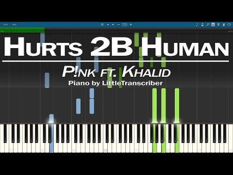 P!nk ft. Khalid - Hurts 2B Human (Piano Cover) Synthesia Tutorial by LittleTranscriber