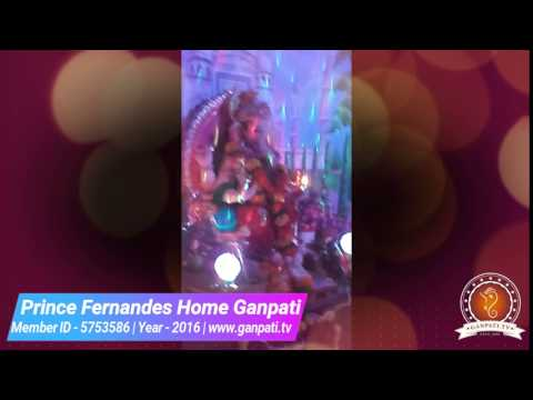 Prince Fernandes Home Ganpati Decoration Video