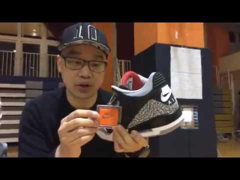 【Mobile01】Air Jordan 3 Black Cement 「不守成規」特別鞋盒版開箱!