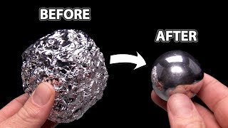 DIY Mirror Polishing Aluminum Foil Ball - Japanese Foil Ball Challenge - Video Youtube