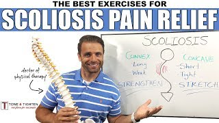 SCOLIOSIS back pain RELIEF! | Best exercises for scoliosis spine