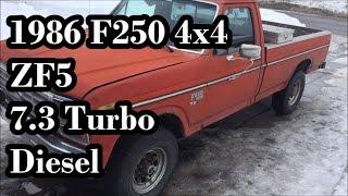 Cold start 1983 f350 6 9 IDI turbo diesel - Самые лучшие видео