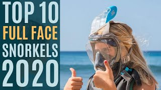 Top 10: Best Full Face Snorkel Masks 2020 / Diving Mask / Anti Fog, Anti Leak / 180° Panoramic View