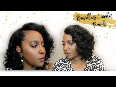 WATCH ME SLAY BRAIDLESS CROCHET BRAIDS|Bobbi Boss Brazilian Ocean Wave