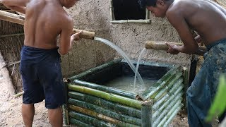Build Water Tank From Bamboo and Mud